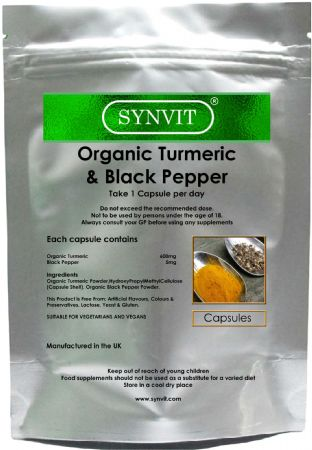 Organic Turmeric 600mg & Black Pepper SYNVIT®